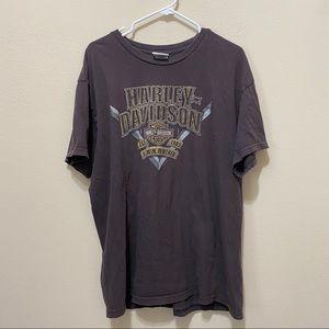 Harley Davidson Brown Jackson Hole Wyoming T Shirt